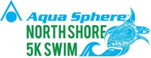 North Shore 5K swim - stacked logo - 2 color
